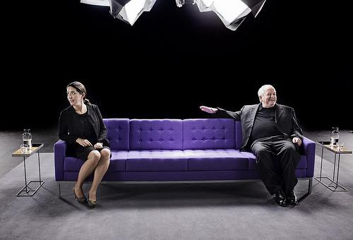 """Juan Maria y Elena Arzak (""""making of"""" de la campaña publicitaria para Banco Sabadell)"""