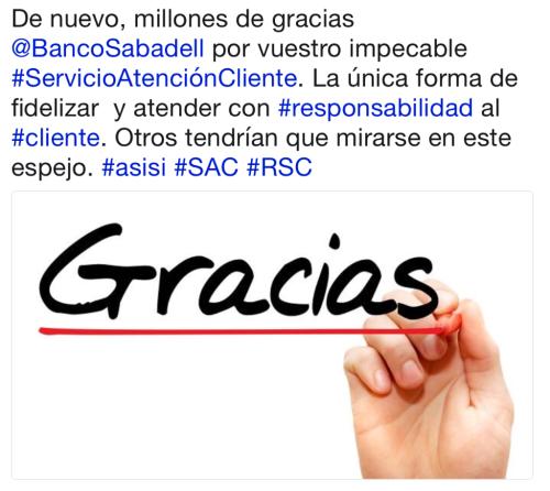 Equipo de atención 24x7 redes sociales Banco Sabadell