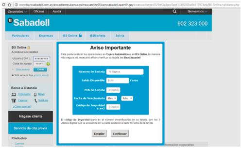 phishing ciberseguridad banco sabadell