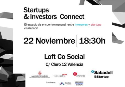 Startups & Investors Connect 22 noviembre