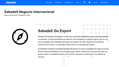 Sabadell Go Export - Sabadell Negocio Internacional