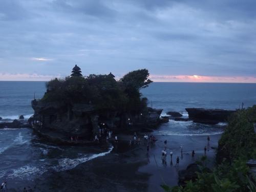 Atardecer en Tanah Lot  Bali.