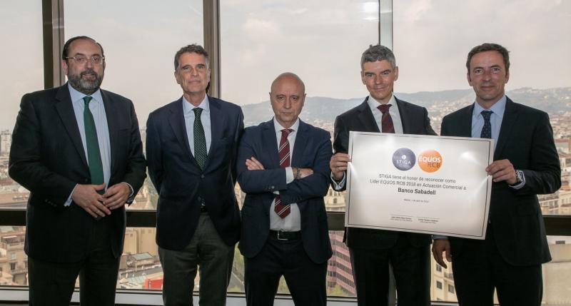STIGA reconoce como lider EQUOS a Banco Sabadell