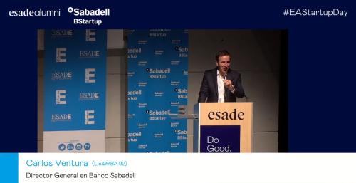 Conversamos con el doctor Luís Rojas Marcos sobre emprender y gestionar en el #EAStartupDay organizado por Banco Sabadell y ESADE Alumni