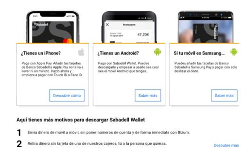 Sabadell Wallet Banco Sabadell