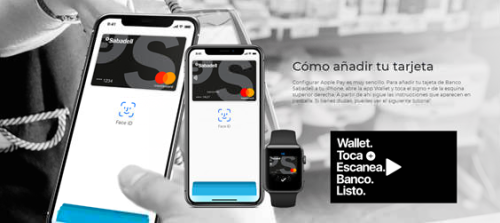 Banco Sabadell Apple pay Samsung pay
