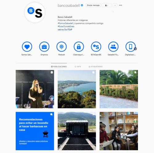 Instagram Banco Sabadell